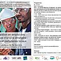 Le 10/11 à namur - intégration en emploi des personnes d'origine étrangère : actions et partenaires locaux