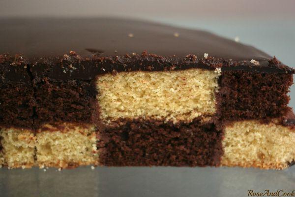 Gateau vanille chocolat recette