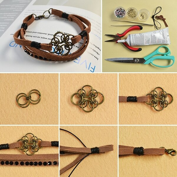 600-Pandahall-Original-DIY-Project---How-to-Make-an-Easy-Chocolate-Suede-Cord-Bracelet-for-Men