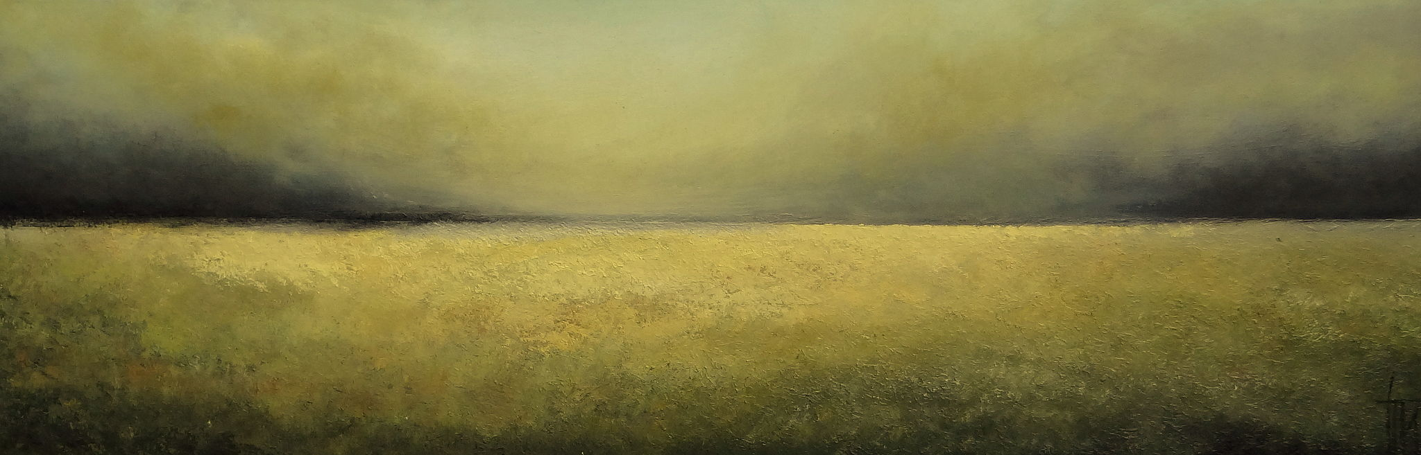 Yellow - Huile sur toile