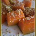 Dessert au potiron - kabak tatlısı