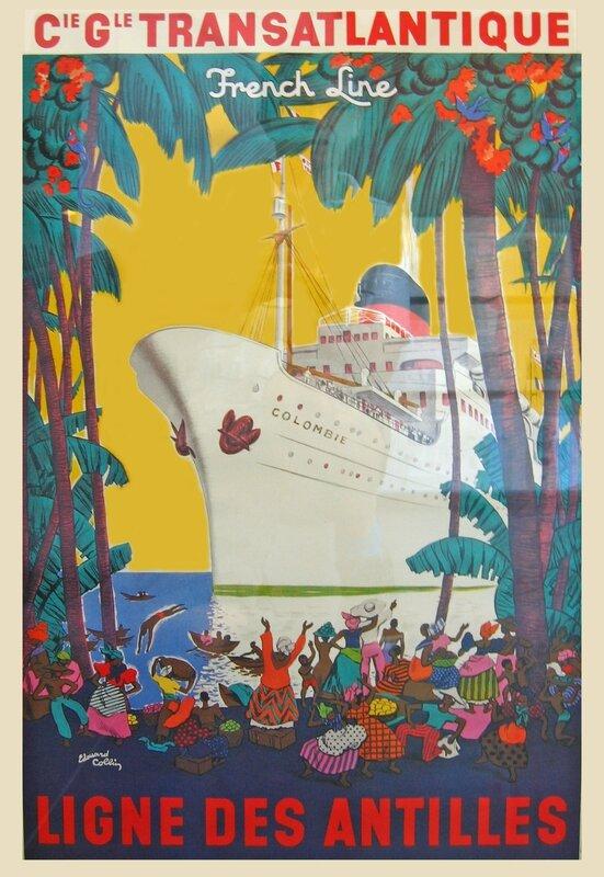 Affiche Ligne des Antilles