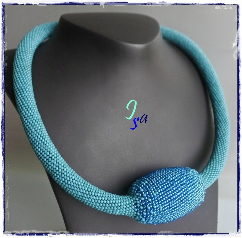 Collier MS 'Ovale' turquoise