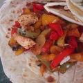 Tortilla aux poivrons et poulet à ma façon