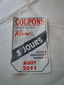 journées coupons aout 2011 reine