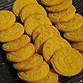 Biscuits parmesan, safran, curcuma