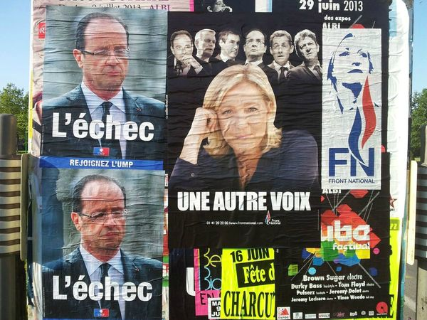 Collage FN Castres (Tarn)