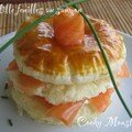 Mille feuilles au saumon