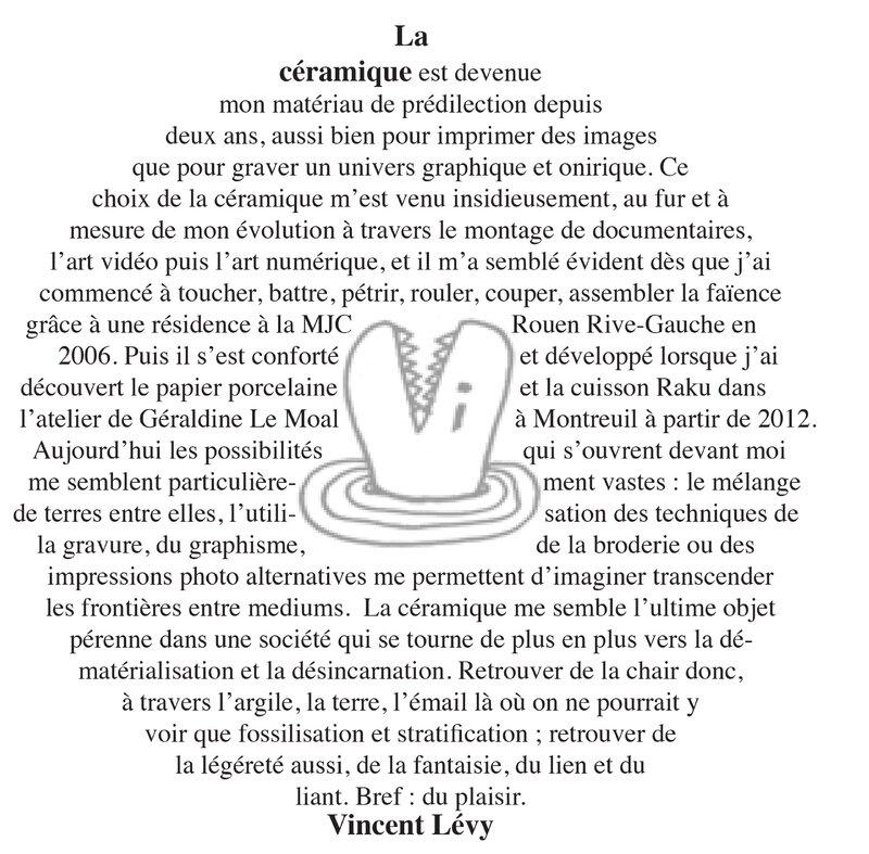 texte présentation Vincent Lévy