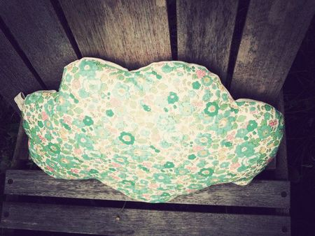 coussin nuage betsy vert