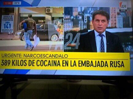 Près de 400kg de cocaine découvert dans l'ambassade de Russie en Argentine