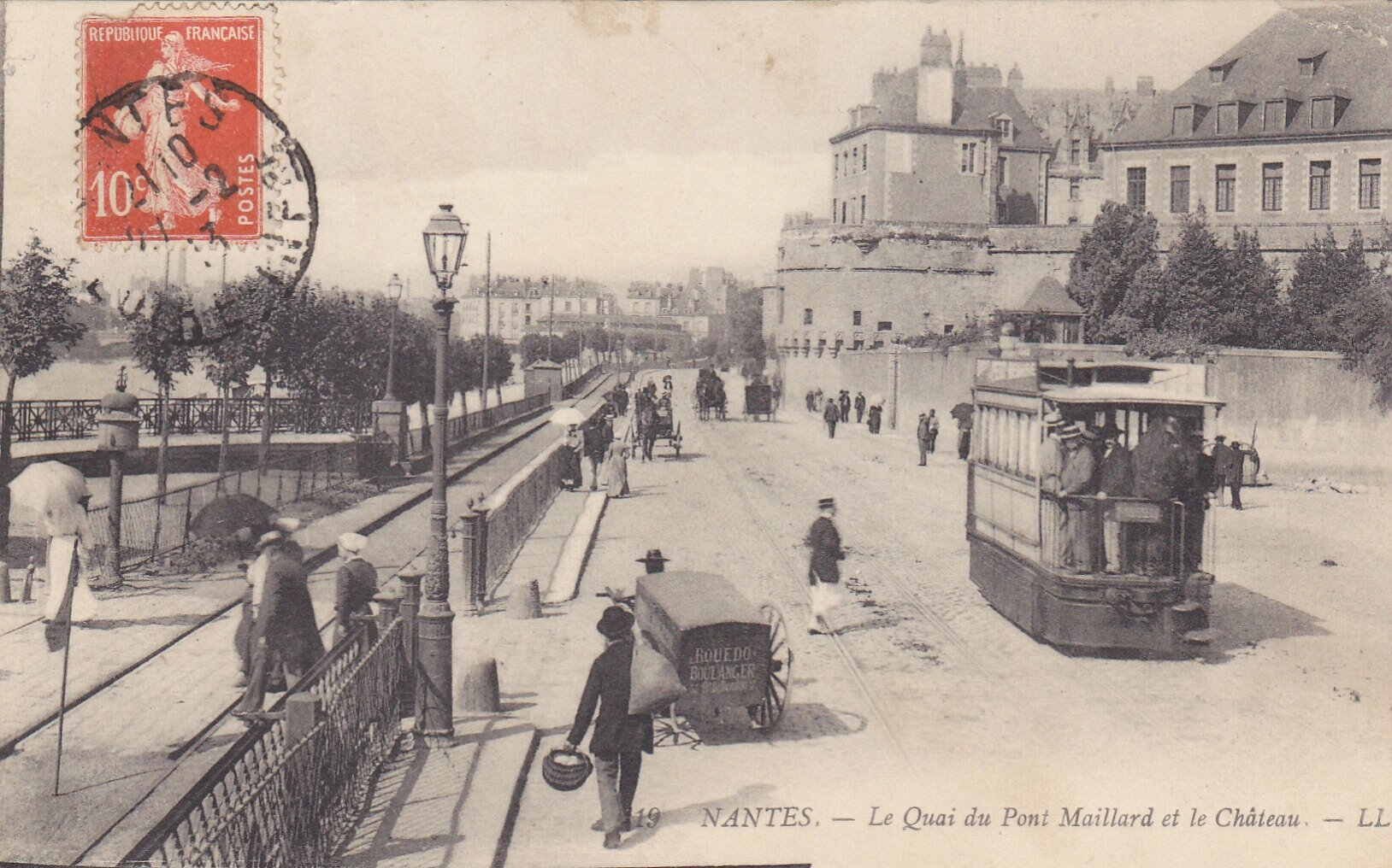 Carte postale ancienne nantes antiquit s du vingti me for O architecture brest
