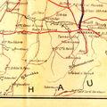 Une carte routière de 1929
