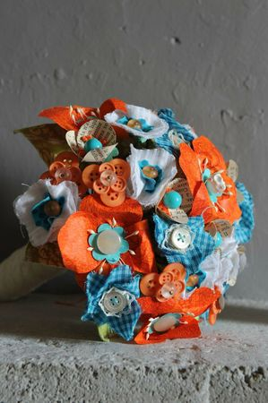 @bouquet orange et bleu 2