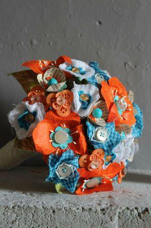 @bouquet orange et bleu 2