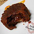 Fondants au chocolat et aux poires (version individuelle)