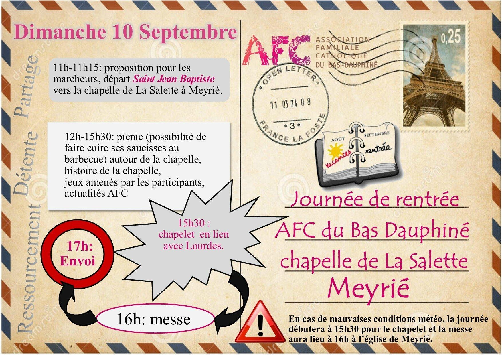 Journée de rentrée AFC du Bas Dauphiné