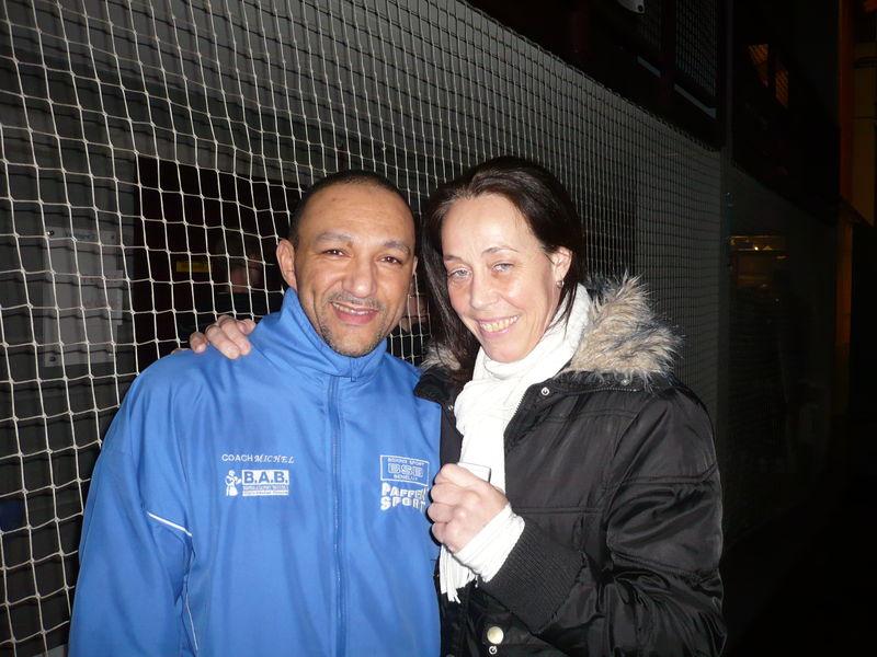 Avec Didi Poings d'Acier! Salut Championne!