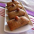 Financiers à la noisette selon mr conticini