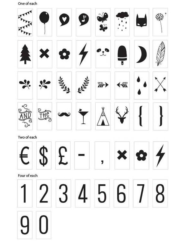 lightbox-symbol-set-numbers-symbols