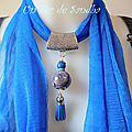 Bijou de foulard Bleu