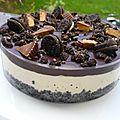 Entremet oréos, beurre de cacahuètes et chocolat {sans cuisson}