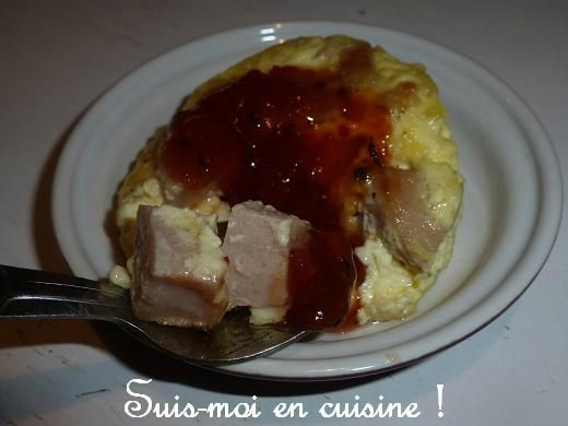 Flan boudin blanc et condiment tomate thym 5