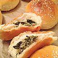 Petits pains moelleux au thon et épinards