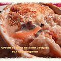 Gratin de noix de saint jacques aux champignons (ronde n°32)