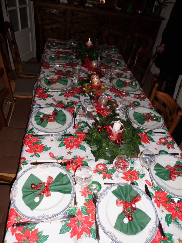 Decoration table de noel fait main for Table fait maison