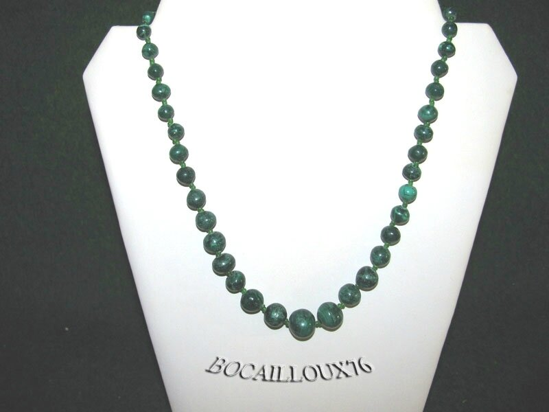 Collier MALACHITE 11 Perles (4)