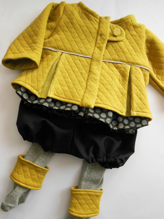 Tenue blouse smocks-gilet-bloomer-jambières6M 1-5