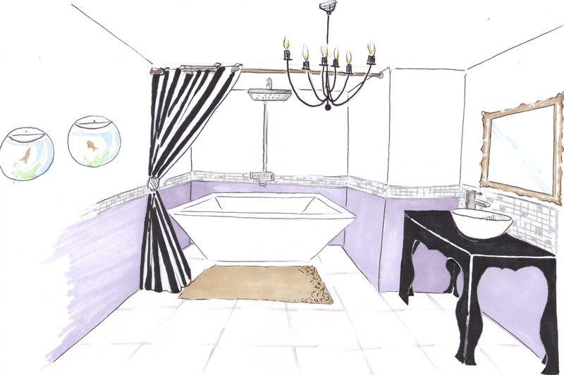 salle de bain baroque photo de projets deco me. Black Bedroom Furniture Sets. Home Design Ideas