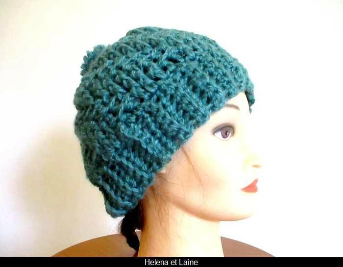 bonnet vert canard relief