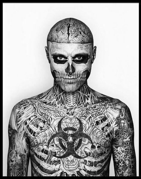 Rick Genest Zombie Boy Le Tatouage Pousse A L Extreme Le Blog
