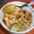 Crumble mangue-beurre de cacahuètes