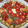 Tarte ricotta-épinard-chèvre-tomate
