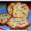 CAKE AUX CRANBERRIES /NOIX ET JUS D'ORANGE ( Etats-Unis / Canada)