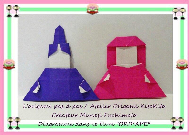 Atelier Origami KitoKito Marionnette doigt Hinamatsuri