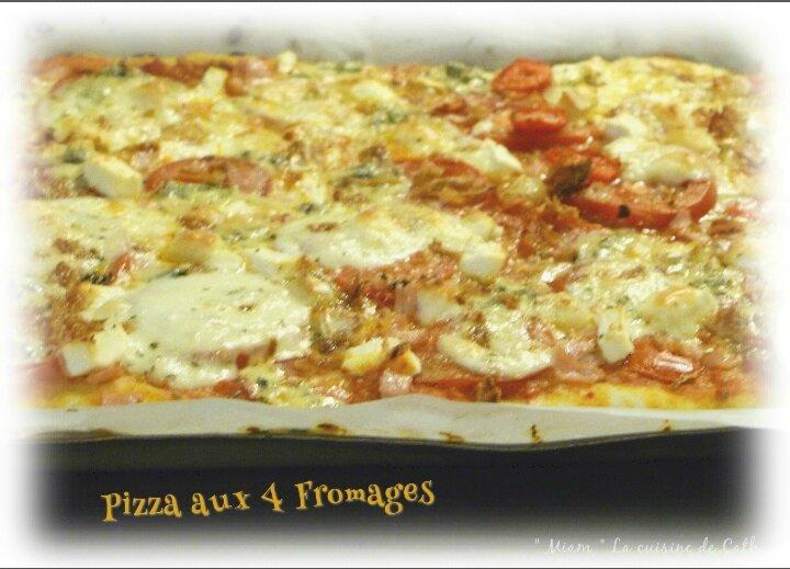 """ღ """" Miam """" Pizza 4 fromages ( et pas que ... )"""
