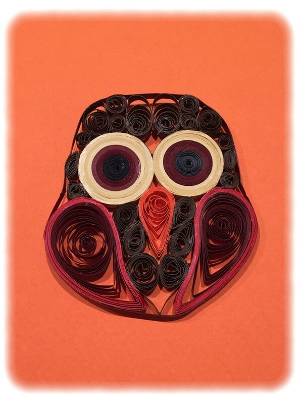 Quilling-hibou