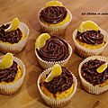 Cupcake madarine toping ganache chocolat