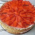 Gâteau fraise mascarpone version 1