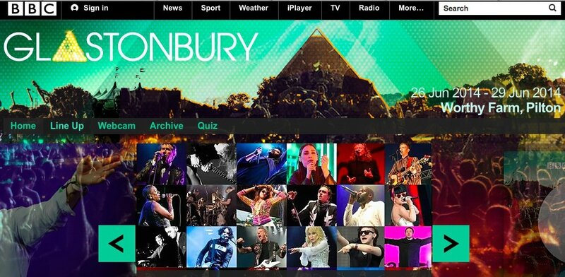 BBC Glastonbury festival 2014 website