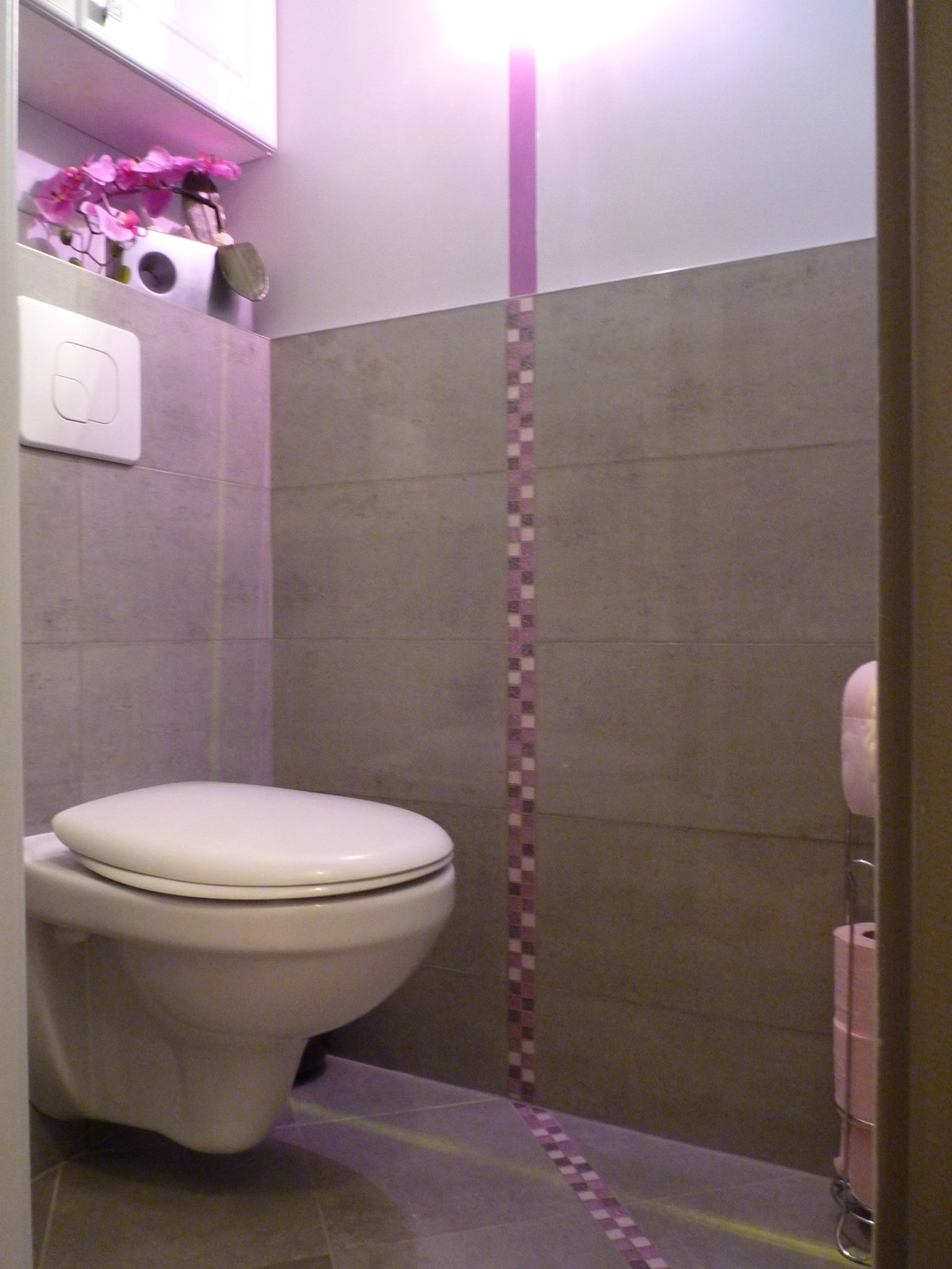 Relooking wc brunoy 91 pinkspace audrey clain for Photo toilette moderne