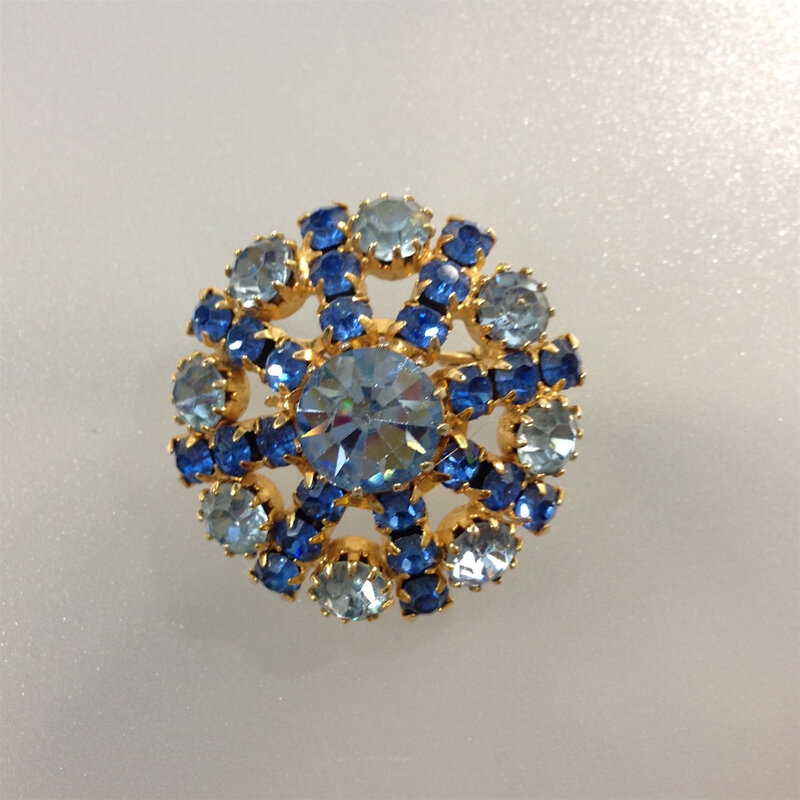 broche strass bleu3