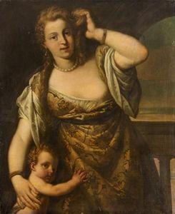 Venus et amour dapres VERONESE Venise fin XVIe KHM Vienne