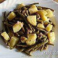 Salade de haricots verts et pommes de terre à l'échalote
