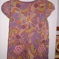 Modèle Maud de Citronille (version longue) agrémentée de poche avec application de fleurs en crochet