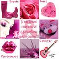 Ma mosaïque rose